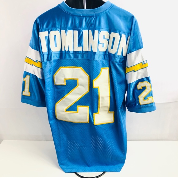 timeless design 7f0b8 b55bf Mitchell & Ness San Diego Chargers LT #21 Jersey